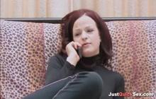 Sexy interracial lesbian sex with strapon dildo
