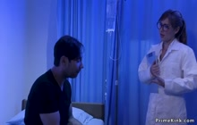Mad patient anal fucks tied doctor