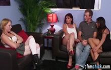 Cfnm fetish domina rubbing pussy