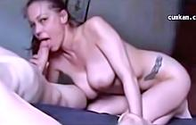 Amateur Big Tit GF Sucks Big Cock Dry