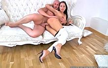 Sexy brunette loves doing anal with her lover
