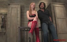 Madison Lerock Playing With Her Bound Slave Boy