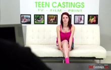 Slim Teen Ravished on Casting