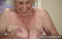 Granny gets oral sex and rides cock