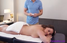 Busty Masseuse Rides Cock