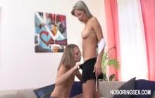 Lesbian fun after class - HOT