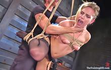 Sidney Cole's rough bondage fuck