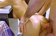 Young hot GF gets big cock in the ass