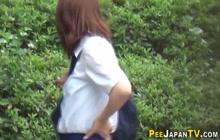 Japanese teens urinating outdoors