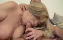 Big titted blonde GILF fucked tough