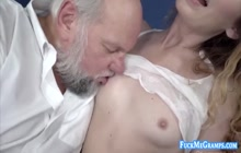 Grandpa Albert Fucks a Teen and Shoots Cums in Her Mouth